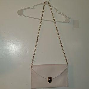 White & Gold - •Unknown•  Envelope Clutch Purse